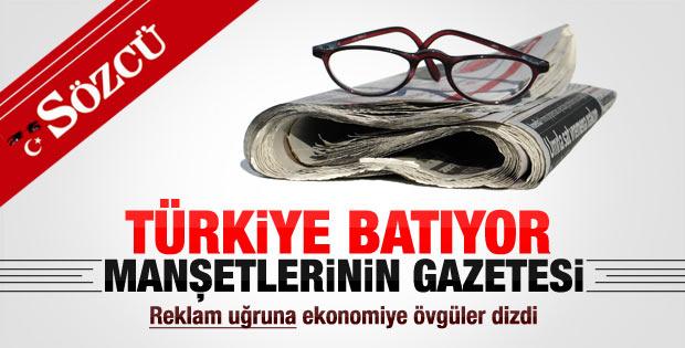 Sözcü manşetten Türkiye'yi batırdı ekte pembe tablo çizdi