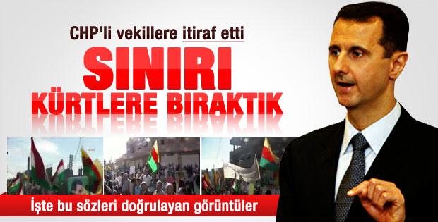 Beşar Esad: Türkiye sınırımızı Kürtlere bıraktık