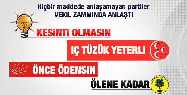 Anayasada tek bir maddede uzlaştılar: Milletvekili zammı