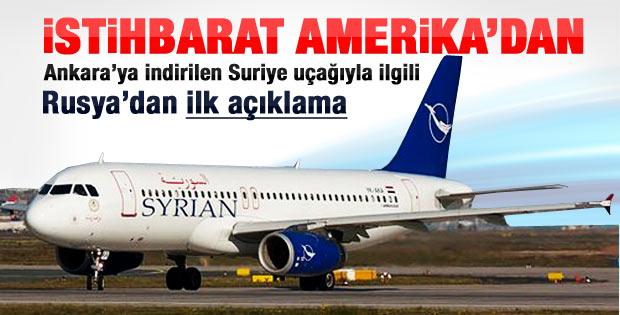 Suriye uçağıyla ilgili istihbarat Amerika'dan