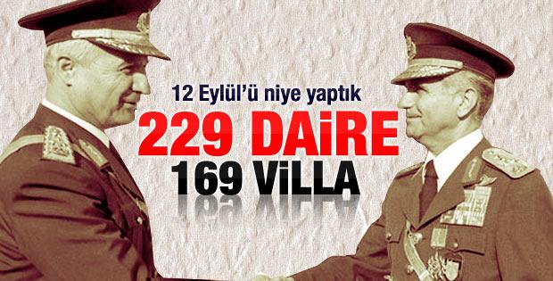 MASAK araştırdı: 12 Eylül komutanlarının mal varlıkları