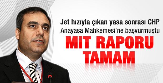 AYM raportörünün MİT raporu tamamlandı