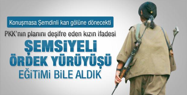 Kadın PKK'lı: Şemsiyeli ördek yürüyüşü eğitimi aldık
