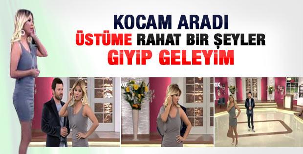 Songül Karlı eşi kızınca kıyafetini değiştirdi - Video