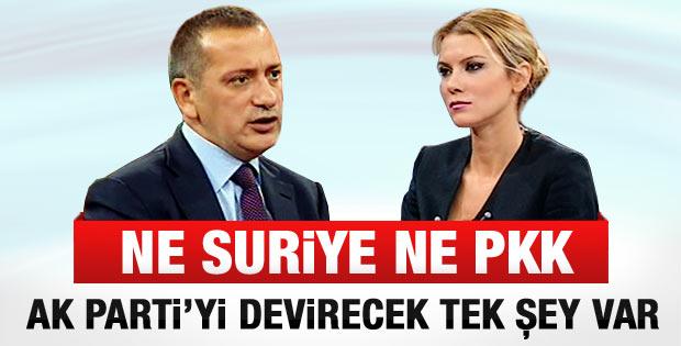 Altaylı: AK Parti hükümetini tek bir şey götürür