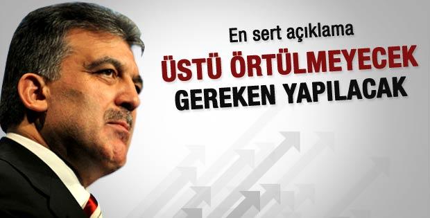 Cumhurbaşkanı Gül'den düşürülen uçak açıklaması