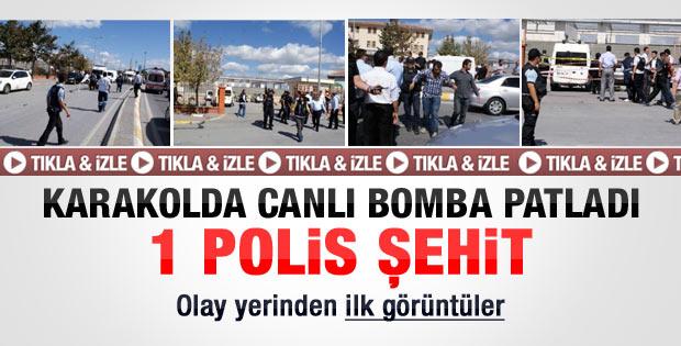 Sultangazi polis karakolu önünde patlama
