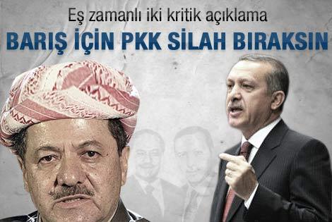 Barzani ve Erdoğan'dan ortak çağrı