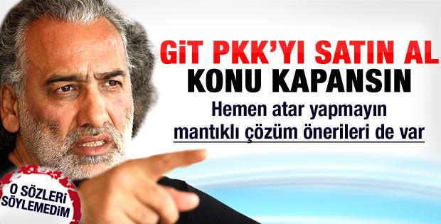 Sinan Çetin'den tartışılacak öneri: PKK'yı satın al