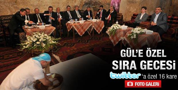 Abdullah Gül Şanlıurfa'da sıra gecesine katıldı