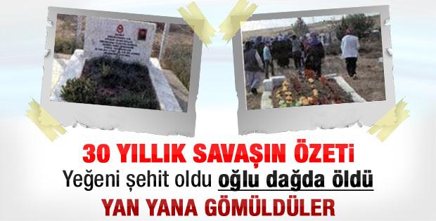 Biri PKK'lıydı diğeri asker: İki kuzenin mezarı yan yana