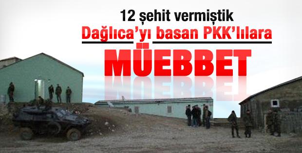 Dağlıca'yı basan PKK'lılara müebbet