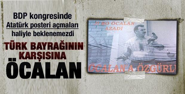 BDP kongresinde salona Öcalan posteri asıldı