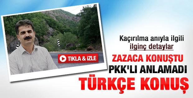 PKK Hüseyin Aygün'ü buradan kaçırdı - Video