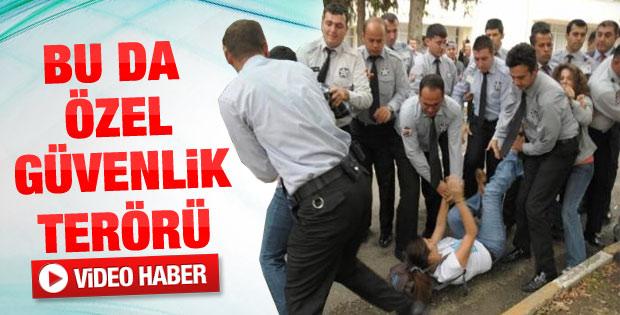 Adana'da üniversitede arbede