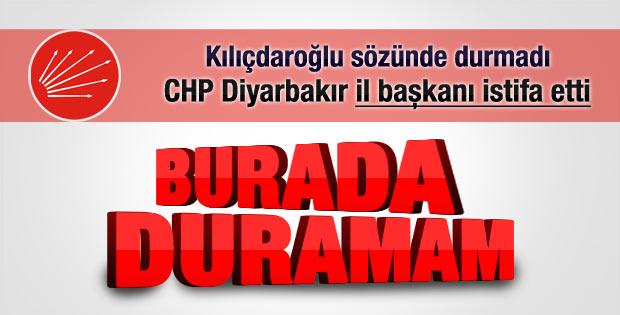 CHP Diyarbakır il başkanı istifa etti