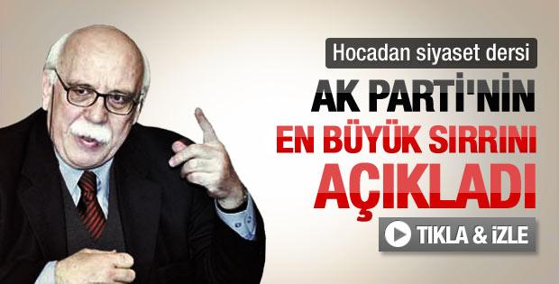 Nabi Avcı'ya göre AK Parti'nin başarısının sırrı