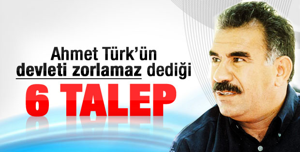 Öcalan'dan BDP'ye 6 madde