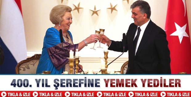 Gül'den Kraliçe Beatrix onuruna yemek  -Video