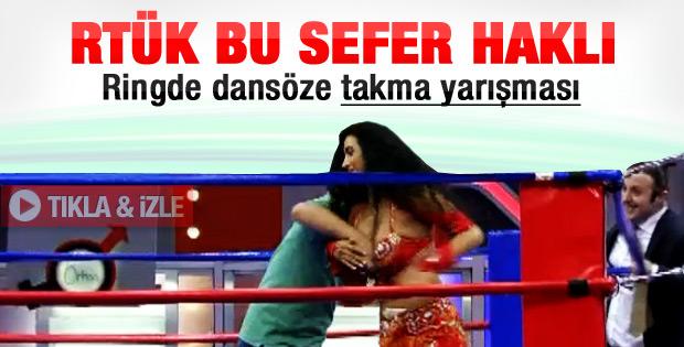 Dansözlü yarışmaya RTÜK'ten rekor ceza