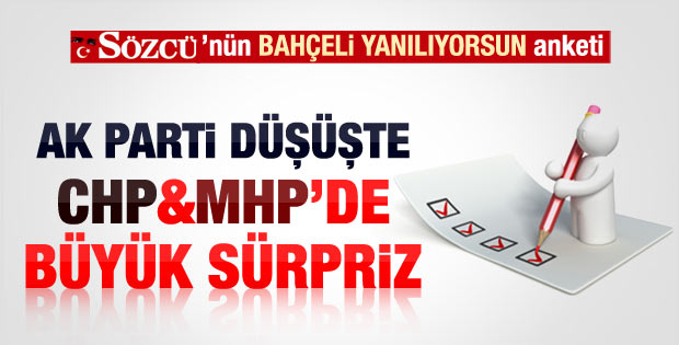 Sözcü'nün seçim anketinde MHP sürprizi