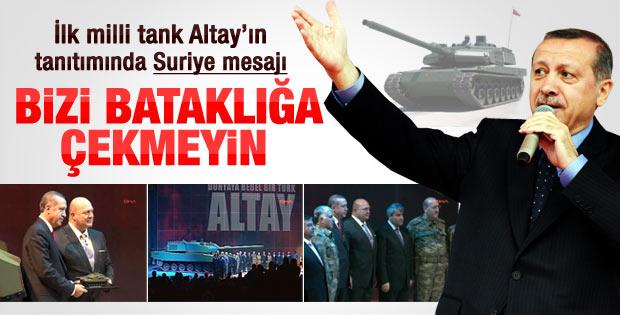 Erdoğan Altay tankının tanıtımında konuştu