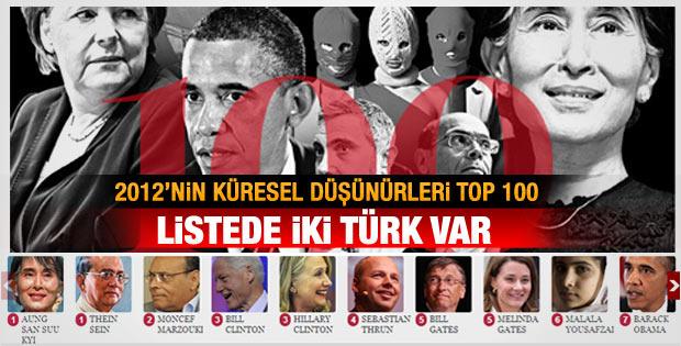 2012 Küresel Düşünürler listesinde 2 Türk var
