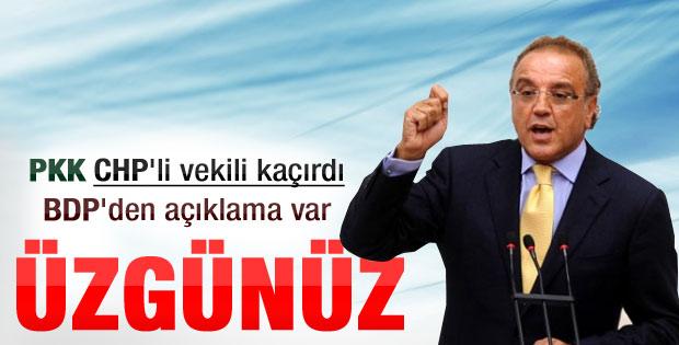BDP'li Sakık: Milletvekili kaçırıldığı için üzgünüz