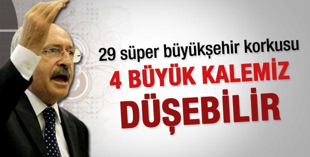 29 süper büyükşehir CHP'yi telaşlandırdı