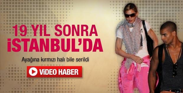Madonna İstanbul'da - Video
