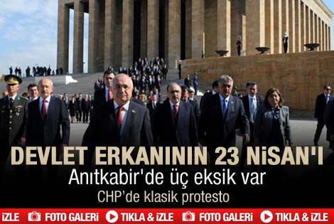 Ankara'da TBMM'nin açılışının 92. yıl dönümü töreni