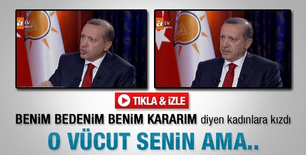 Erdoğan'dan canlı yayında kürtaj yorumu - Video