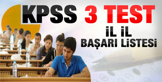 KPSS'deki en başarılı iller sıralaması