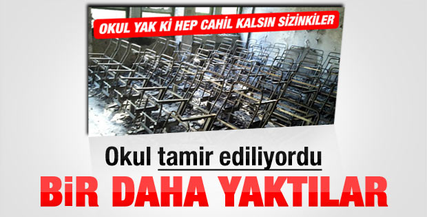 PKK aynı okulu 2. kez yaktı