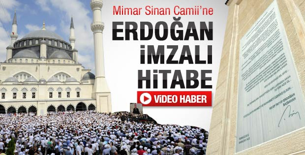 Mimar Sinan'a Erdoğan imzalı hitabe