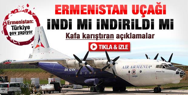 Ermenistan uçağı Erzurum'a indirildi