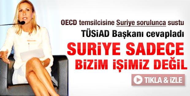 OECD temsilcisi değil TÜSİAD Başkanı Türkiye'yi eleştirdi