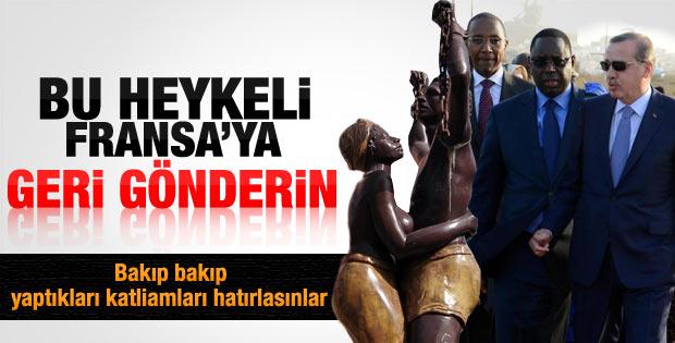 Senegal'de Erdoğan'dan heykel çıkışı