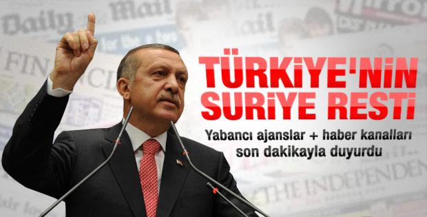 Erdoğan'ın Suriye tepkisi dünya basınında