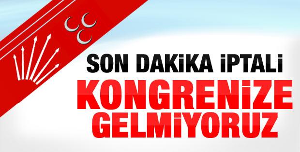 CHP: AK Parti kongresine gitmiyoruz