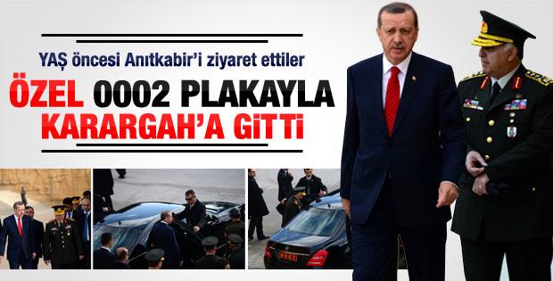 Erdoğan Necdet Özel'i makam aracına alıp karargaha gitti
