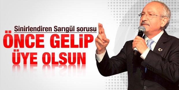 Kılıçdaroğlu'nu kızdıran Sarıgül sorusu