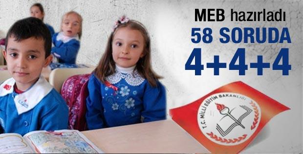 MEB hazırladı: 58 soruda 4+4+4 sistemi