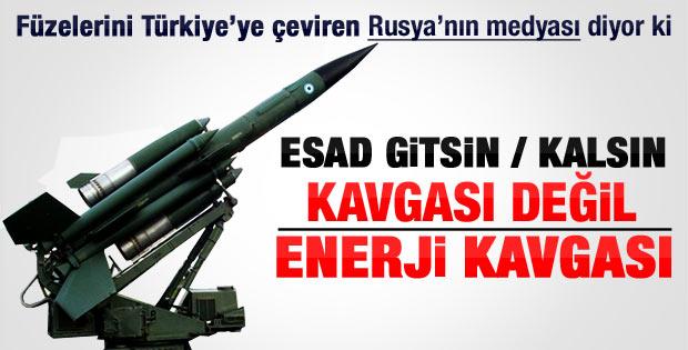 Rusya füzelerini Türkiye'ye yönlendirdi