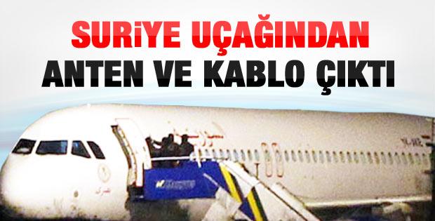 İndirilen Suriye yolcu uçağından anten ve kablo çıktı