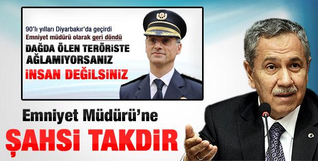 Arınç'tan Diyarbakır Emniyet Müdürü'ne kişisel takdir