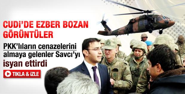 Savcı ve PKK cenazelerini almaya gelenlerin diyalogları