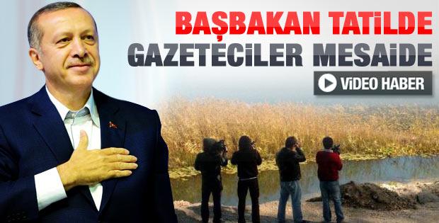 Basın mensuplarının Erdoğan nöbeti