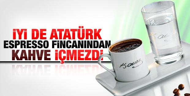 Atatürk imzalı espresso fincanları