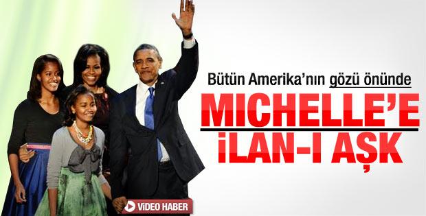 Obama'dan bütün Amerika'nın önünde eşine ilan-ı aşk